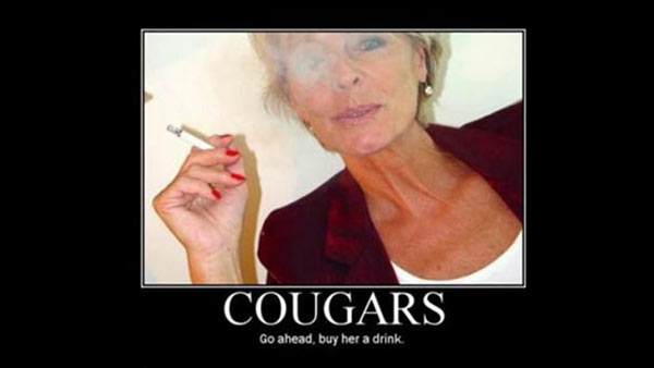 Cougar Milf Demotivational Pic